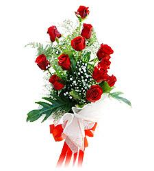 11 adet kirmizi güllerden görsel sölen buket  Adıyaman çiçek siparişi vermek