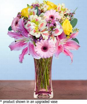 Anneme hediye karisik cam mevsim demeti  Adıyaman internetten çiçek siparişi