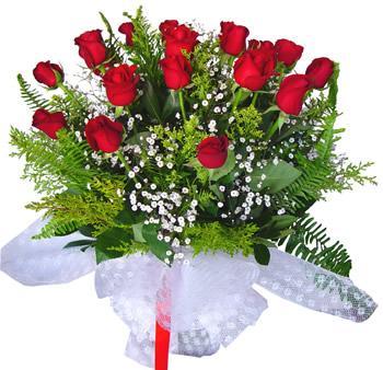 11 adet gösterisli kirmizi gül buketi  Adıyaman internetten çiçek satışı