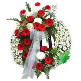 Cenaze çelengi cenaze çiçek modeli  Adıyaman uluslararası çiçek gönderme