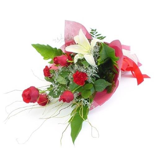 Mevsim çiçeklerinden karisik buket  Adıyaman cicek , cicekci