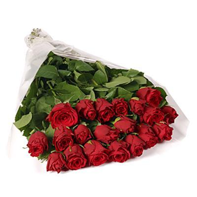 19 adet kirmizi güllerden buket tanzimi