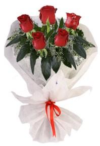 5 adet kirmizi gül buketi  Adıyaman çiçekçiler