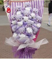 11 adet pelus ayicik buketi  Adıyaman çiçek gönderme sitemiz güvenlidir