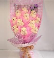 11 adet pelus ayicik buketi  Adıyaman çiçek yolla