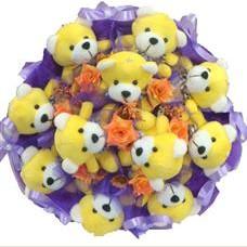 11 adet pelus ayicik buketi  Adıyaman çiçek mağazası , çiçekçi adresleri