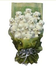 11 adet pelus ayicik buketi  Adıyaman online çiçek gönderme sipariş