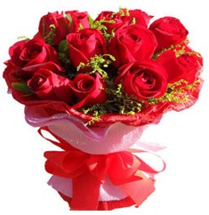 9 adet kirmizi güllerden kipkirmizi buket  Adıyaman çiçekçiler
