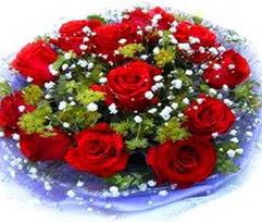 9 adet kirmizi güllerden buket  Adıyaman çiçekçi telefonları
