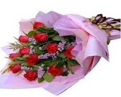 11 adet kirmizi güllerden görsel buket  Adıyaman çiçek gönderme sitemiz güvenlidir