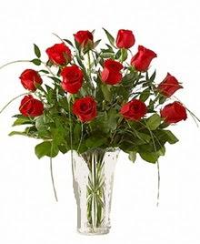 cam yada mika vazo içerisinde 9 kirmizi gül  Adıyaman çiçek siparişi sitesi
