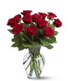Adıyaman çiçek gönderme sitemiz güvenlidir  cam yada mika vazoda 10 kirmizi gül