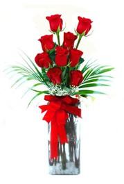 Adıyaman çiçekçi telefonları  9 adet mika yada cam vazoda gül tanzimi
