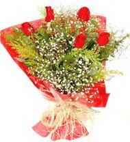 Adıyaman anneler günü çiçek yolla  5 adet kirmizi gül buketi demeti