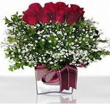 Adıyaman internetten çiçek satışı  mika yada cam vazo içerisinde 7 adet gül