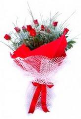 Adıyaman İnternetten çiçek siparişi  9 adet kirmizi gül buketi demeti