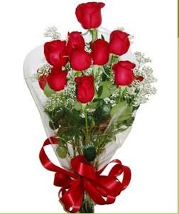 Adıyaman uluslararası çiçek gönderme  10 adet kırmızı gülden görsel buket