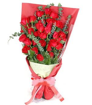Adıyaman çiçek gönderme  37 adet kırmızı güllerden buket