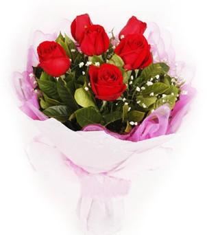 Adıyaman hediye sevgilime hediye çiçek  kırmızı 6 adet gülden buket
