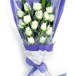 Adıyaman çiçekçi mağazası  11 adet beyaz gül buket modeli