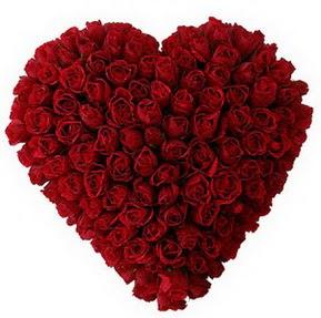 Adıyaman çiçekçi mağazası  muhteşem kırmızı güllerden kalp çiçeği