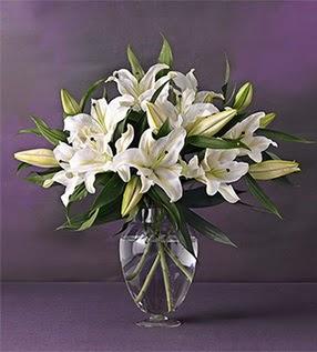 Adıyaman İnternetten çiçek siparişi  4 dal cazablanca vazo çiçeği