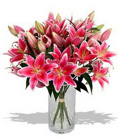4 dal cazablanca görsel vazosu  Adıyaman çiçekçi mağazası