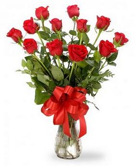Adıyaman çiçek , çiçekçi , çiçekçilik  12 adet kırmızı güllerden vazo tanzimi