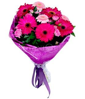 Adıyaman çiçek siparişi sitesi  karışık gerbera çiçeği buketi