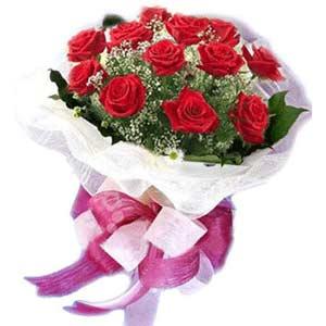 Adıyaman çiçek satışı  11 adet kırmızı güllerden buket modeli