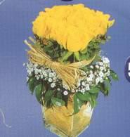Adıyaman anneler günü çiçek yolla  Cam vazoda 9 Sari gül