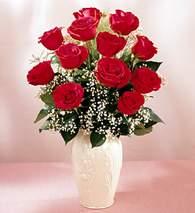 Adıyaman çiçekçi mağazası  9 adet vazoda özel tanzim kirmizi gül