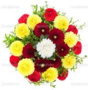 Adıyaman çiçekçi mağazası  13 adet mevsim çiçeğinden görsel buket