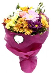 1 demet karışık görsel buket  Adıyaman anneler günü çiçek yolla
