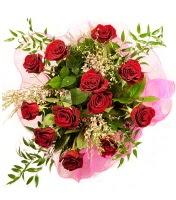 12 adet kırmızı gül buketi  Adıyaman 14 şubat sevgililer günü çiçek