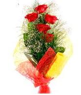 5 li kırmızı gül buketi  Adıyaman internetten çiçek satışı