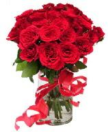 21 adet vazo içerisinde kırmızı gül  Adıyaman çiçek satışı