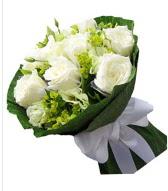 9 adet beyaz gül buketi  Adıyaman çiçek siparişi sitesi