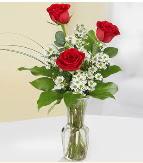 Vazo içerisinde 3 adet kırmızı gül  Adıyaman çiçek satışı