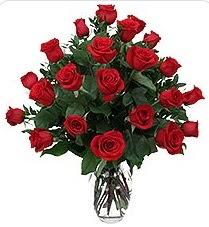 Adıyaman çiçek siparişi sitesi  24 adet kırmızı gülden vazo tanzimi