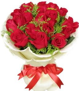 19 adet kırmızı gülden buket tanzimi  Adıyaman çiçek servisi , çiçekçi adresleri