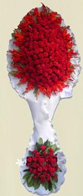 Çift katlı kıpkırmızı düğün açılış çiçeği  Adıyaman anneler günü çiçek yolla