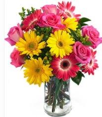 Vazoda Karışık mevsim çiçeği  Adıyaman çiçekçi mağazası