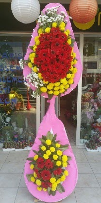 Çift katlı düğün nikah açılış çiçek modeli  Adıyaman çiçekçiler