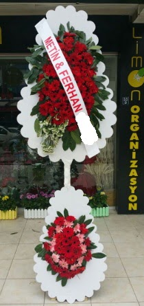 Çift katlı düğün nikah çiçeği modeli  Adıyaman çiçek siparişi sitesi