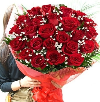 Kız isteme çiçeği buketi 33 adet kırmızı gül  Adıyaman çiçek gönderme sitemiz güvenlidir
