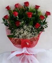 11 adet kırmızı gülden görsel çiçek  Adıyaman çiçek satışı