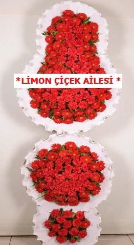 3 katlı kırmızı düğün açılış çiçeği  Adıyaman çiçek gönderme