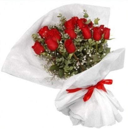 9 adet kırmızı gül buketi  Adıyaman çiçekçi mağazası