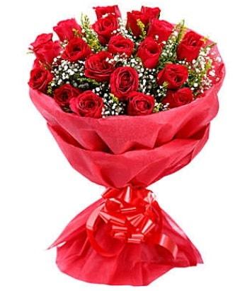 21 adet kırmızı gülden modern buket  Adıyaman çiçek gönderme